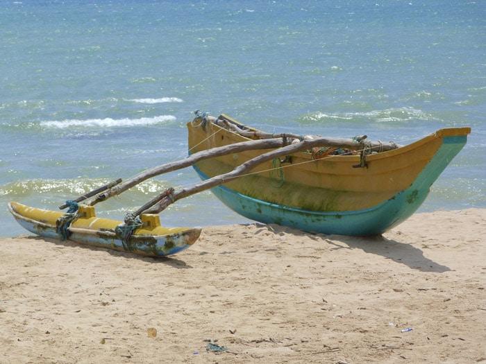 Barca en Tangalle