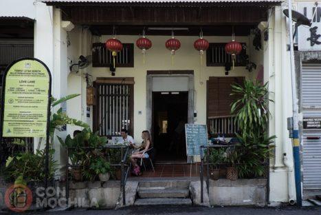 Entrada de la guesthouse