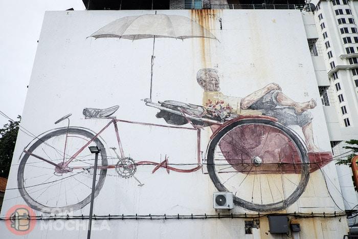 The awaiting trishaw peddler