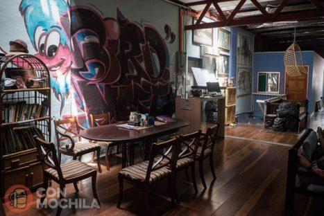 La sala de estar de Birdnest guesthouse