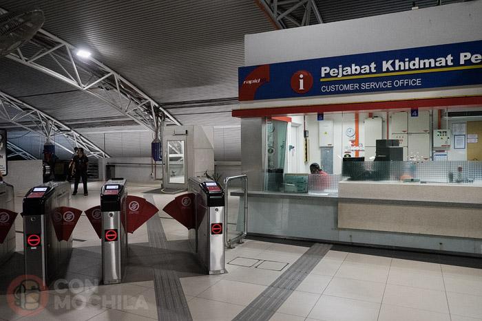 Las oficinas del tren RAPID KL