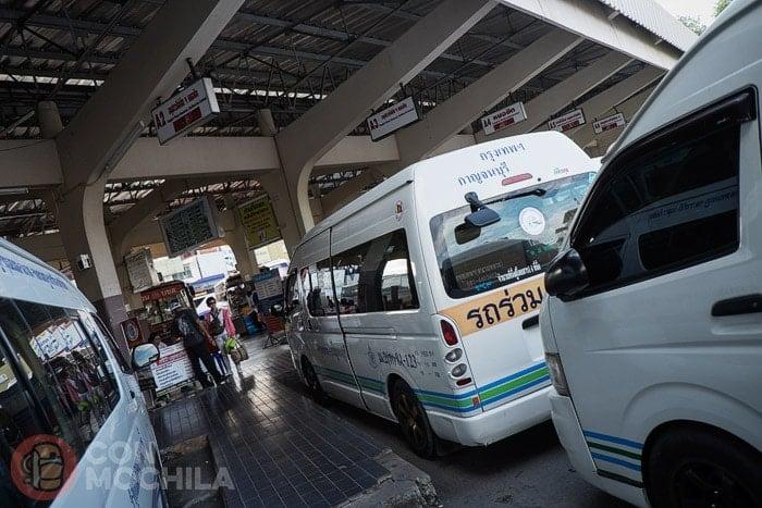 Estación de bus de Kanchanaburi