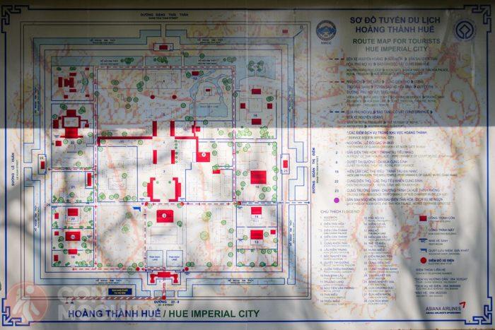 Mapa de la Ciudadela de Hué