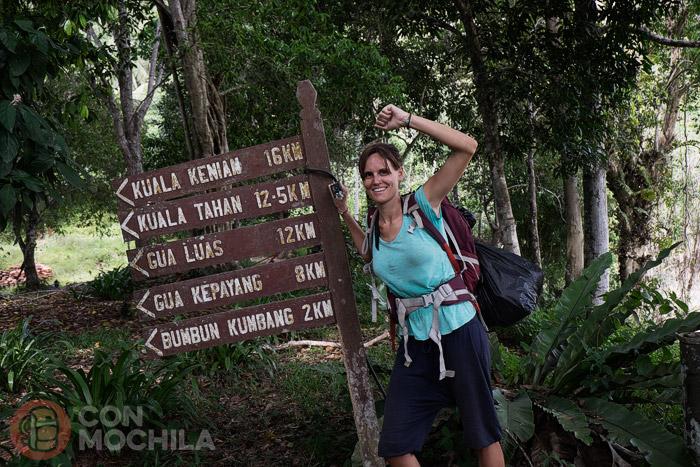 Final del trekking por Taman Negara