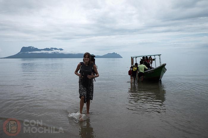 El desembarco en la playa