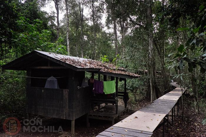 Nuestra cabaña en el campamento Uncle Tan