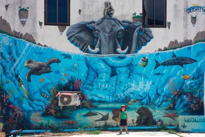 Itinerario de viaje a Tailandia: Street Art en Tongsala (Koh Phangan)