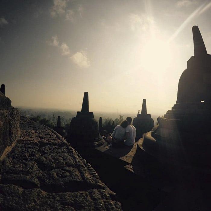 Amanecer en el templo de Borobudur