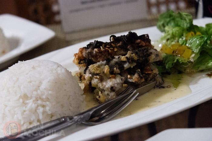 Uno de los platos con berenjena