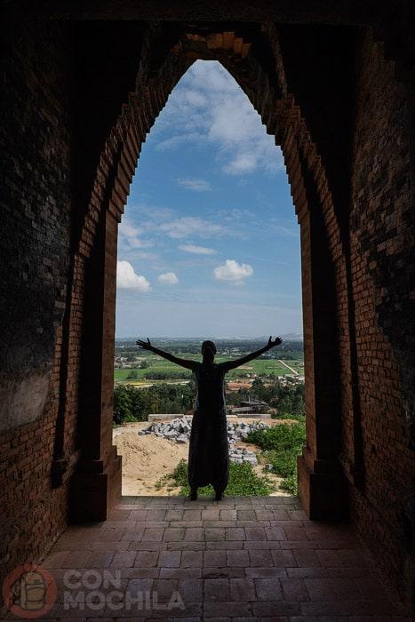Dentro de una de las torres