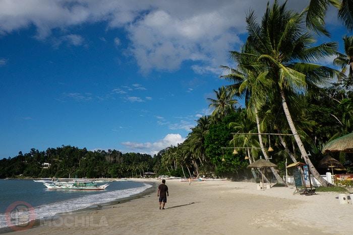 La playa principal
