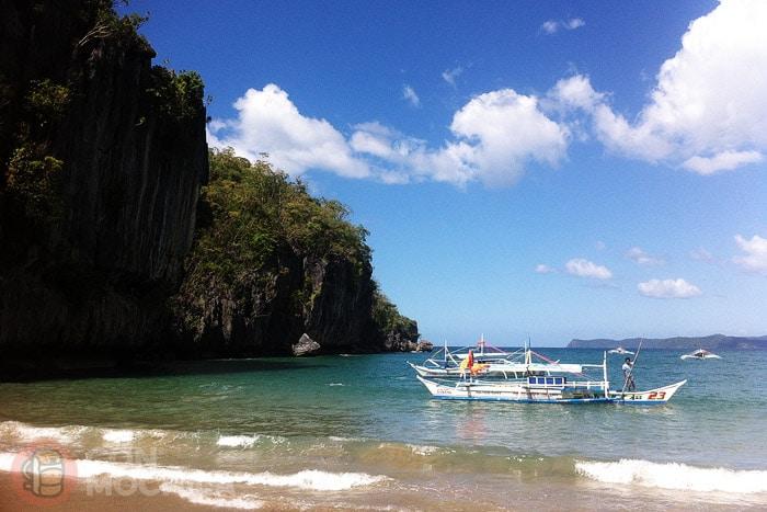 La playa donde te deja el bangka
