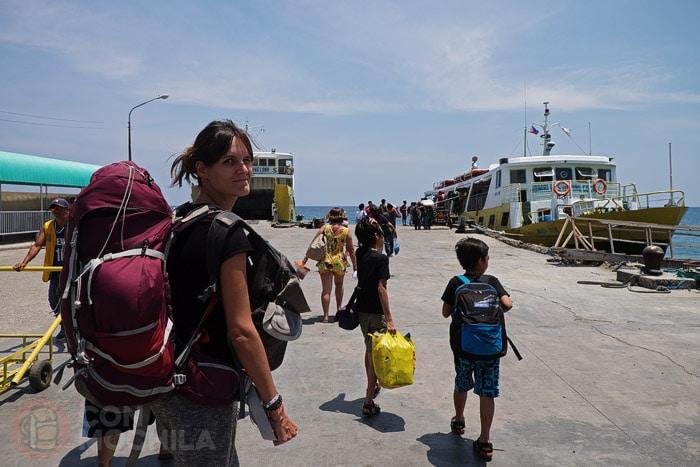 Accediendo al ferry