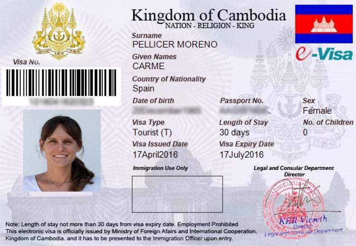 El visado de Carme para imprimir