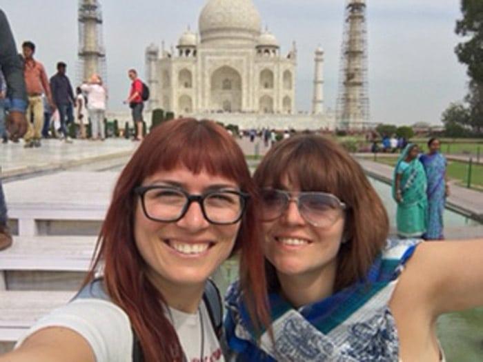 Itinerario de viaje a India: En el Taj Mahal