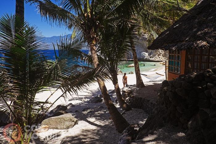 La playa desde la entrada