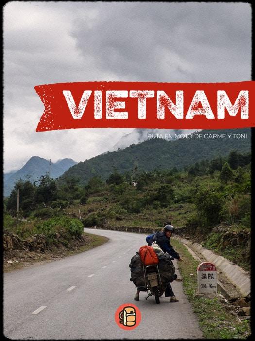 Ruta en moto por Vietnam con mochila
