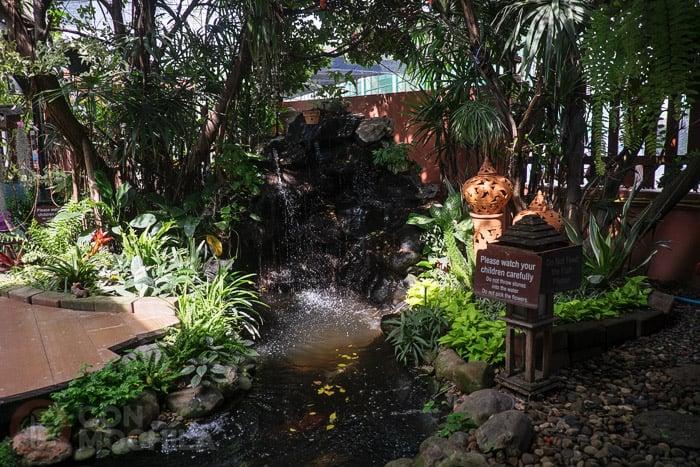 El jardín del restaurante