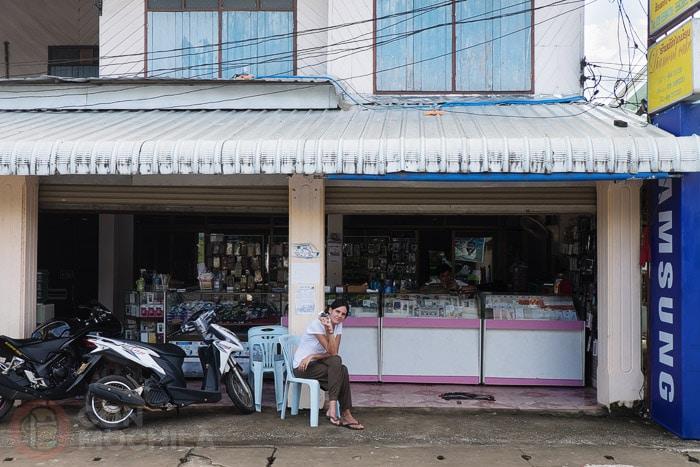Tarjeta SIM con internet en Laos: La tienda en cuestión