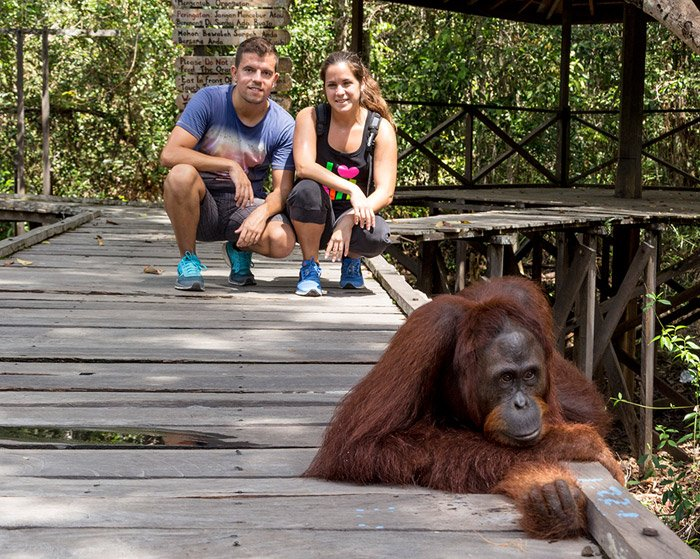 itinerario de viaje a Indonesia: Nosotros en el parque nacional Tanjung Puting