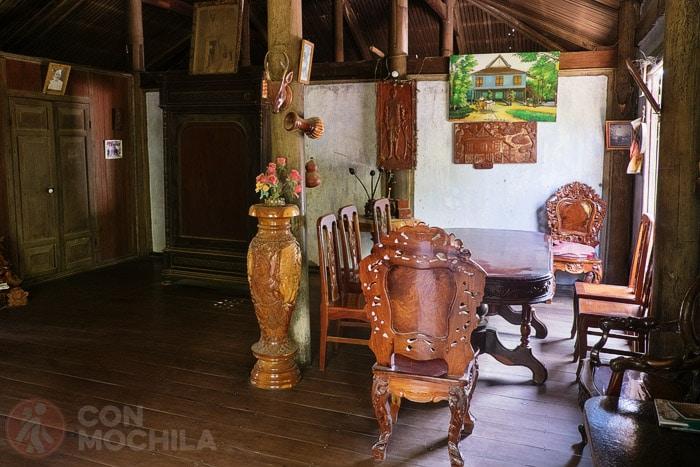 Detalle del interior de la casa