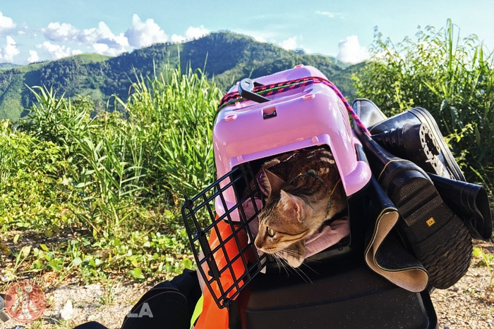 En la ruta en moto por Laos