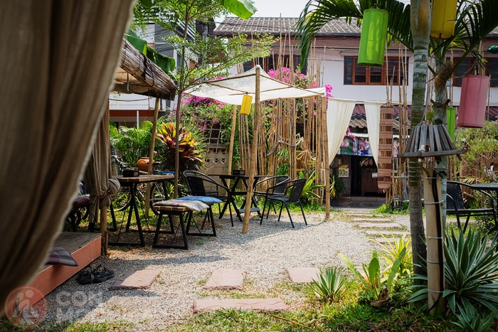 El jardín del Pink Garden restaurant