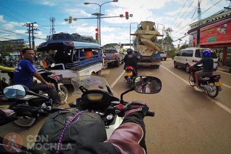La entrada en la capital de Laos