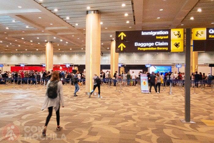 Zona de inmigración para sacarse el visado de Indonesia gratis