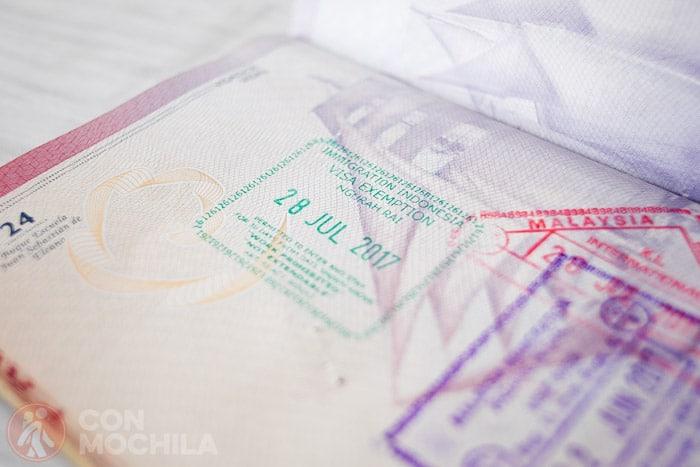Visado de Indonesia 30 días gratis