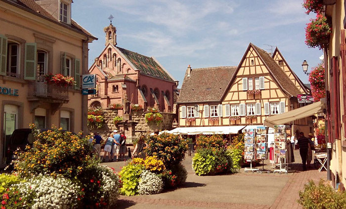 Itinerario de viaje a Alemania: Eguisheim (Alsacia francesa)