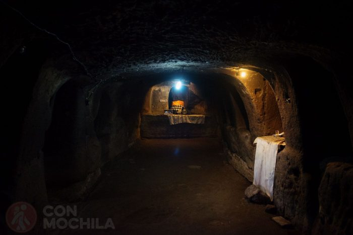 Pasillo interior de la cueva
