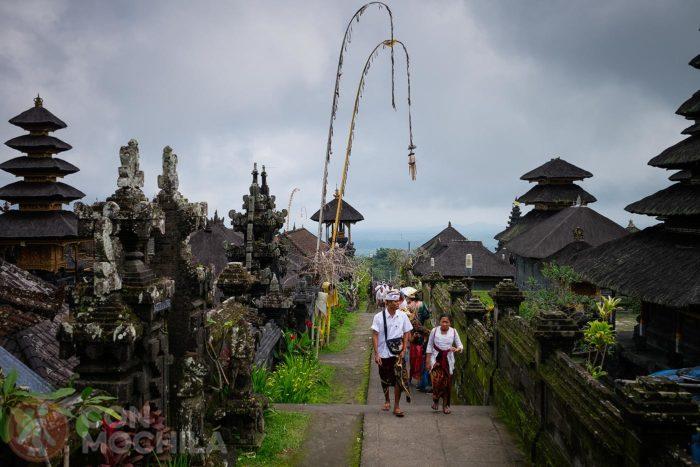 Escalinatas de subida a los templos