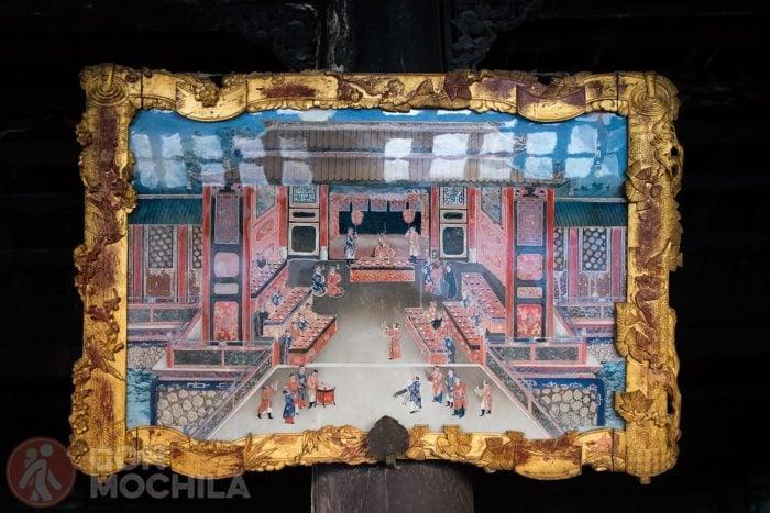 Una pintura de una escena imperial
