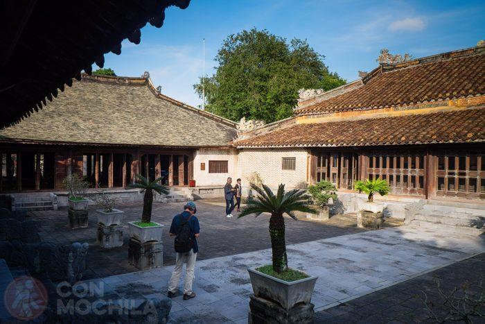 El patio interior del Hoa Khiem