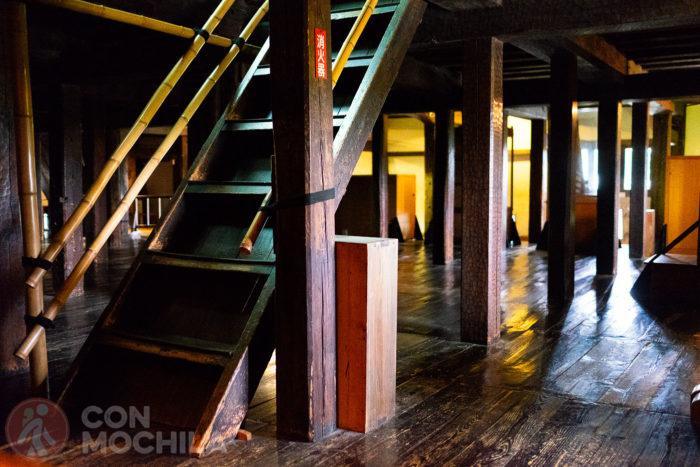 Detalles del interior, todo en madera