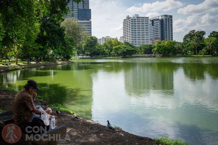 Típica escena en el parque