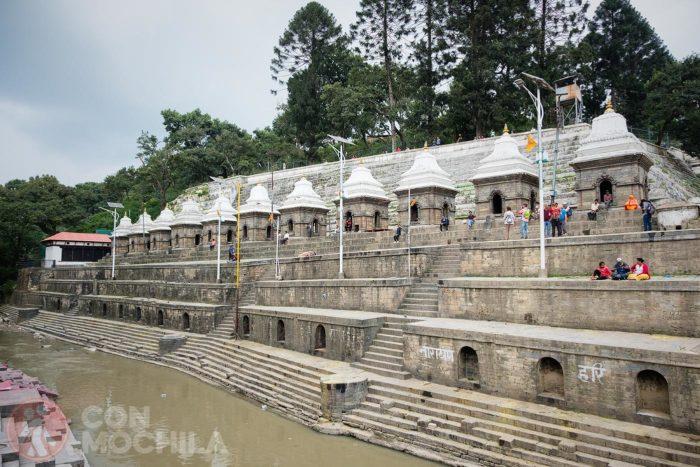 Detalle de los ghats