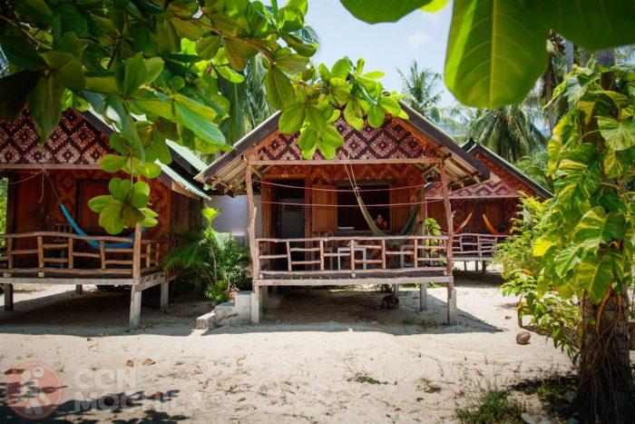 Las cabañas del North Beach en Koh Phangan (Tailandia)
