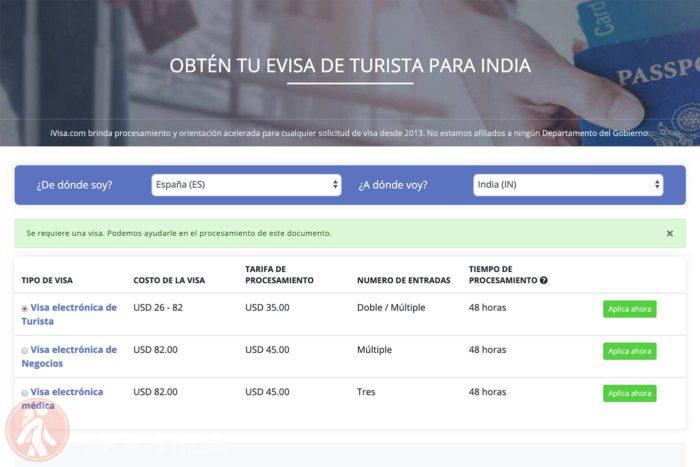 Visado de India online (eVisa) sin complicaciones