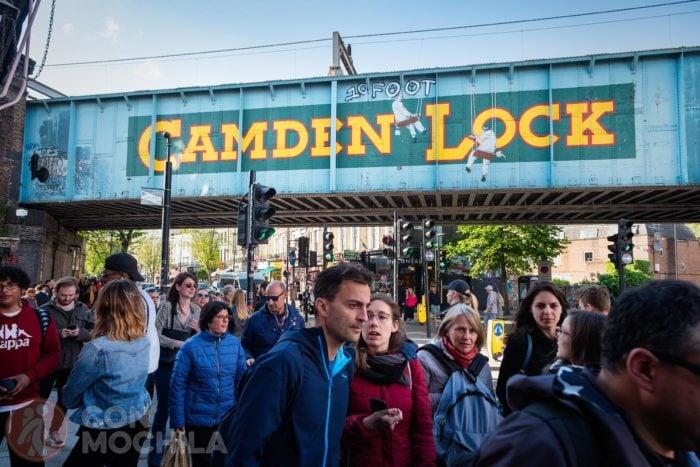 El famoso grafitti de Camden lock