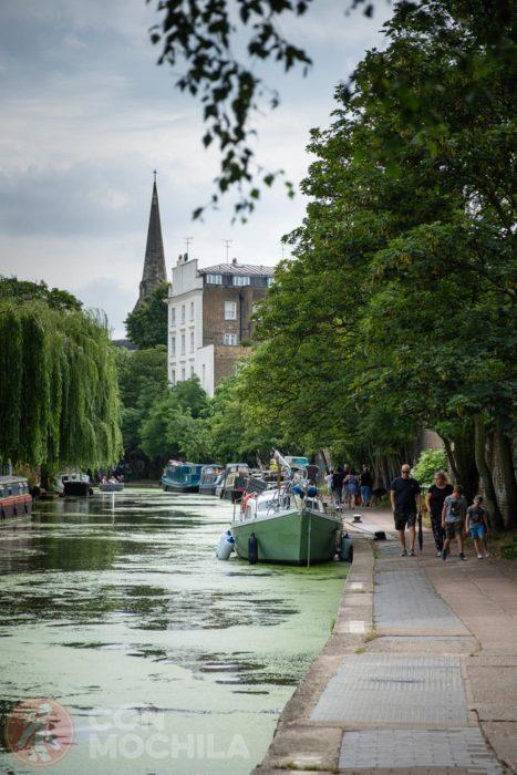Ruta a pie por el Regent's canal