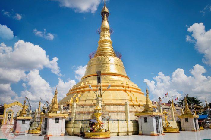 Vista de la stupa principal