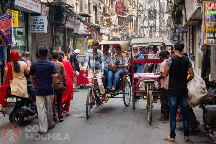 El rickshaw, el icónico transporte de India