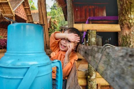 Tribu Tailandia niño