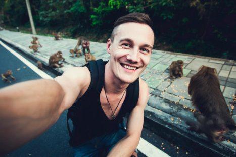Los selfies con animales...