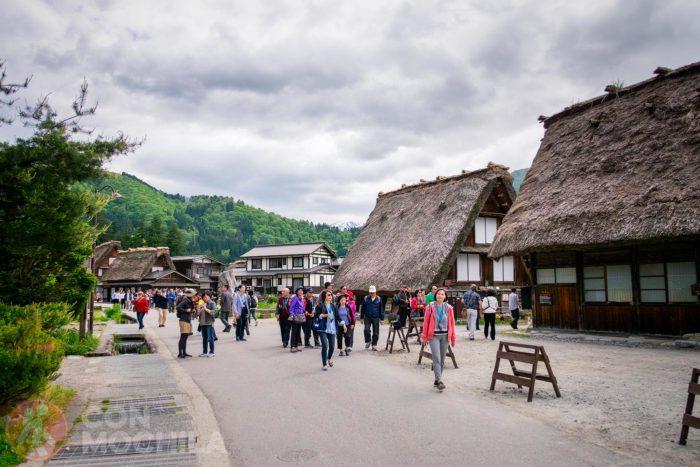 Grupo de turistas de visita