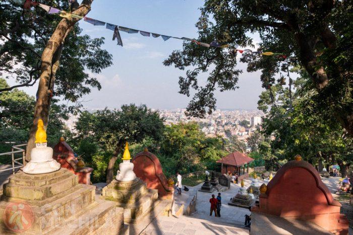 Vistas de Katmandú durante la subida