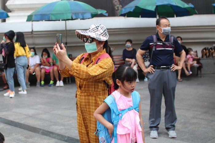 Turistas chinos Erawan