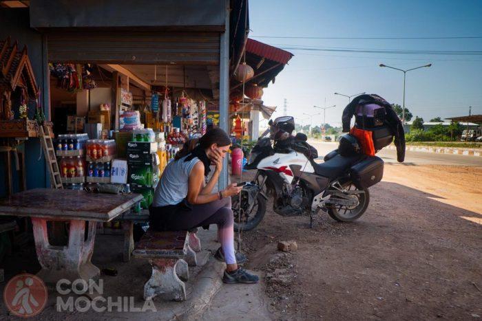 Ruta en moto por Laos, a punto de volver a Tailandia